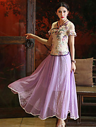 Our Story Women's Solid Purple SkirtsSophisticated Maxi