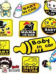 BABY IN CAR Reflective Child Car Stickers Car Stickers Car Stickers Car Stickers Mama Baby Mousse