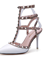 Women's Sandals Summer Comfort Patent Leather Casual Stiletto Heel Others Black Red White Gray Fuchsia Others