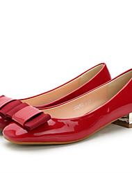 Women's Heels Spring / Summer / Fall Heels / Square Toe / Closed Toe  Casual Chunky Heel Bowknot Walking
