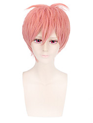 moda peruca curta encaracolado cor-de-rosa cosplay sintético perucas afro-americanos