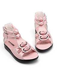 Girl's Sandals Summer / Fall Sandals Cowhide Casual Flat Heel Others Pink / White Others