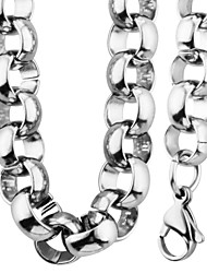 Trendy Never Fade 316L Round Stainless Steel 8.8MM Circle Chain Chunky Necklace Bracelet Jewelry Sets For Men NB60022