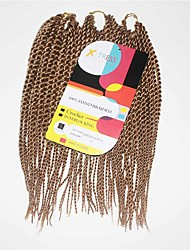 Senegal Twist Blonde Color 27 Synthetic Hair Braids 12inch Kanekalon 81 Strands 125g  Multipal Pack for Full Heads