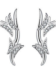 May Polly  Europe and the United States and elegant fashion Butterfly Earrings