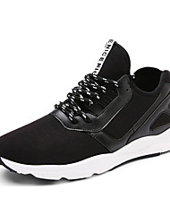 Men's Sneakers Spring / Fall Comfort / Round Toe Fabric Athletic Flat Heel Others / Lace-up Black / Gray Sneaker