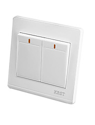 Two Open Double Control Wall Switch