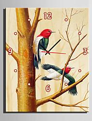 Rechteckig Modern/Zeitgenössisch Wanduhr , Anderen Leinwand35 x 50cm(14inchx20inch)x1pcs/ 40 x 60cm(16inchx24inch)x1pcs/ 50 x