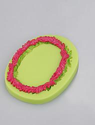 Ferramentas de decoração bolo de fondant chocolate resina de argila doce molde de silicone forma redonda cor aleatória