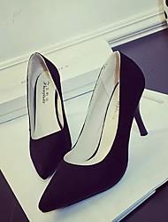 Women's Heels Spring Comfort Suede Dress Stiletto Heel Others Black Yellow Red Orange Others