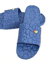 Feminino-Chinelos e flip-flops-Chanel-Rasteiro-Azul / Rosa / Coral / Azul Real-Borracha-Casual