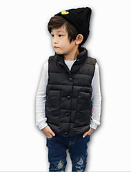 Boy's Casual/Daily Solid Down & Cotton Padded / VestNylon Winter / Fall Black / Red / Gray
