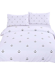 Anchors Bedding Set Plain Printed Bedlinen Soft Home Textiles Twin Full Queen King Bedspread couvre lit Limited