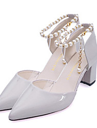Women's Heels Spring / Summer / Fall Mary Jane / Comfort Leather Outdoor / Casual Low Heel Pearl / Flower