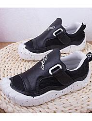 Jungen-Sneaker-Outddor-Leder-Flacher Absatz-Geschlossene Zehe-Schwarz / Weiß