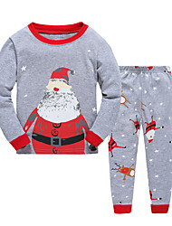 Boy's Casual/Daily Print Clothing SetCotton Winter / Fall Gray