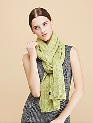 Women Acrylic ScarfCasual RectangleRed / White / Green / BlueSolid