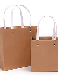 Natural Wood Grain Paper Bag and Fresh Hot Stamping Carrier Bags