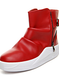 Men Genuine Leather Boots Zipper Slip-on Business Boots