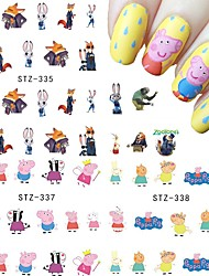 11 designs ,11 different images Nail Sticker Art Autocollants de transfert de l'eau Maquillage cosmétique Nail Art Design