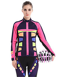 Sports Cycling Jersey with Tights Women's Long Sleeve Bike Windproof / Wearable / Comfortable / Sunscreen Clothing Sets/Suits Coolmax