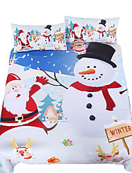 BeddingOutlet Bedding Set Christmas Snowman White Bed Linen Santa Claus Best Gifts Quilt Cover Twin Full Queen King 3Pcs