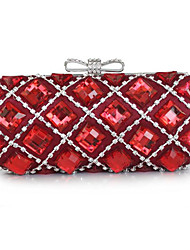 L.west Women Elegant High-grade Acrylic Jewels Bowknot Evening Bag