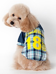 Classic Check Denim Jean Shirt for Pets Dogs (Assorted Sizes and Colours)