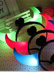 Хэллоуин костюмы оголовье лампа рог головы обручем лампа светящийся рог детей фантазии украшения случайный цвет