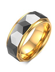 Men's Ring Band Rings Daily/Hallowas/Party/Wedding/Casual Fashion Tungsten Steel/Gold Plated Golden 1pc Gift
