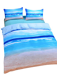 Beach Ocean Duvet Cover Set 3D Bedding Set Twin Full Queen