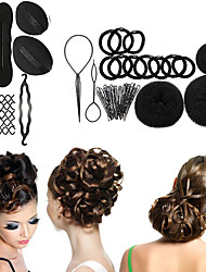 8 Type  Magic Braiders Bud Head Ball Head Disk Donuts Dish Hair Hairdressing tools For Women Hair Accessories