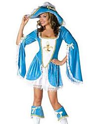 Costumes de Cosplay / Costume de Soirée Pirate Fête / Célébration Déguisement Halloween Blanc / Bleu Ciel MosaïqueRobe / Plus