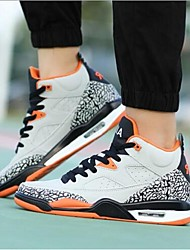 Men's Athletic Shoes Fall Flats Leather Athletic Flat Heel Others Black / White / Gray Basketball