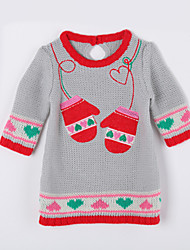 Girl's Casual/Daily Print Sweater & CardiganCotton Fall Gray
