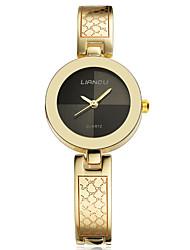 Damen Armbanduhr Quartz / Legierung Band Bettelarmband Gold Gold Schwarz