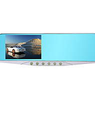 Hd 1080p Car Rear View Mirror Camera Wide Angle Dual Lens Reversing Visual