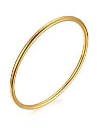 Pulseiras Bracelete Aço Inoxidável / Prata Chapeada / Chapeado Dourado / Rosa Folheado a Ouro Formato Circular Fashion Diário / Casual