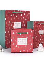 Vertical Version  Gift Bag Fashion Christmas Tree and Fresh Hot Stamping Carrier Bags