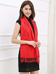 Autumn And Winter Thick Warm Cashmere Scarves Solid Red Chinese Red Cashmere Shawl