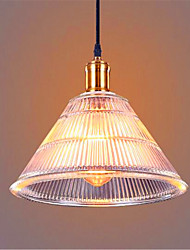 Simple Restaurant Bar bar American Country Industrial Glass Retro Restaurant Lamp Waterfall (Including 1 E26/E27 Bulbs)