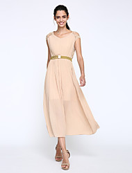 Women's Boho Party Simple/Boho Chiffon/Swing Dress,Solid V Neck Maxi Short Sleeve Beige/Black Polyester Summer High Rise