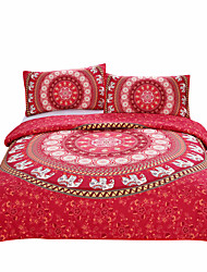 BeddingOutlet Red Mandala Bedding Home Elephant Messenger Indian Bed Linen Soft Fabric Moroccan Bedclothes 3Pcs Real