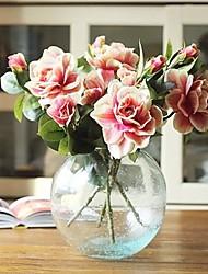 """1 Branch 1 Une succursale Soie Gardénia Fleur de Table Fleurs artificielles Total Length:26.8"""""""