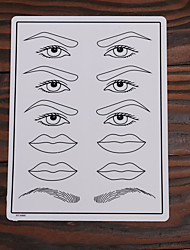 10Pcs Tattoo Makeup Practice Skin Fake Skin for Eyebrow Lips and Eyelinner 15*20cm