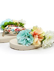 Girl's Slippers & Flip-Flops Summer Flip Flops Synthetic Outdoor Flat Heel Flower Blue Others