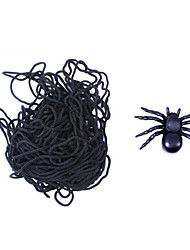 Artigos de Halloween Aranhas Festival/Celebração Trajes da Noite das Bruxas Preto Cor Única Mais Acessórios Dia Das Bruxas Unisexo