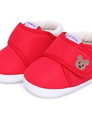Unisex Flats Winter Crib Shoes Cotton Casual Flat Heel Animal Print Blue Pink Red Khaki Walking