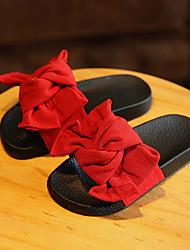 Fille-Décontracté-Noir Vert Rose Rouge-Talon PlatChaussons & Tongs-Coton