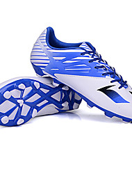 Men's Soccer Shoes Spring / Summer / Fall / Winter Leather Sport Outdoor /     Black / Blue / Yellow / Silver